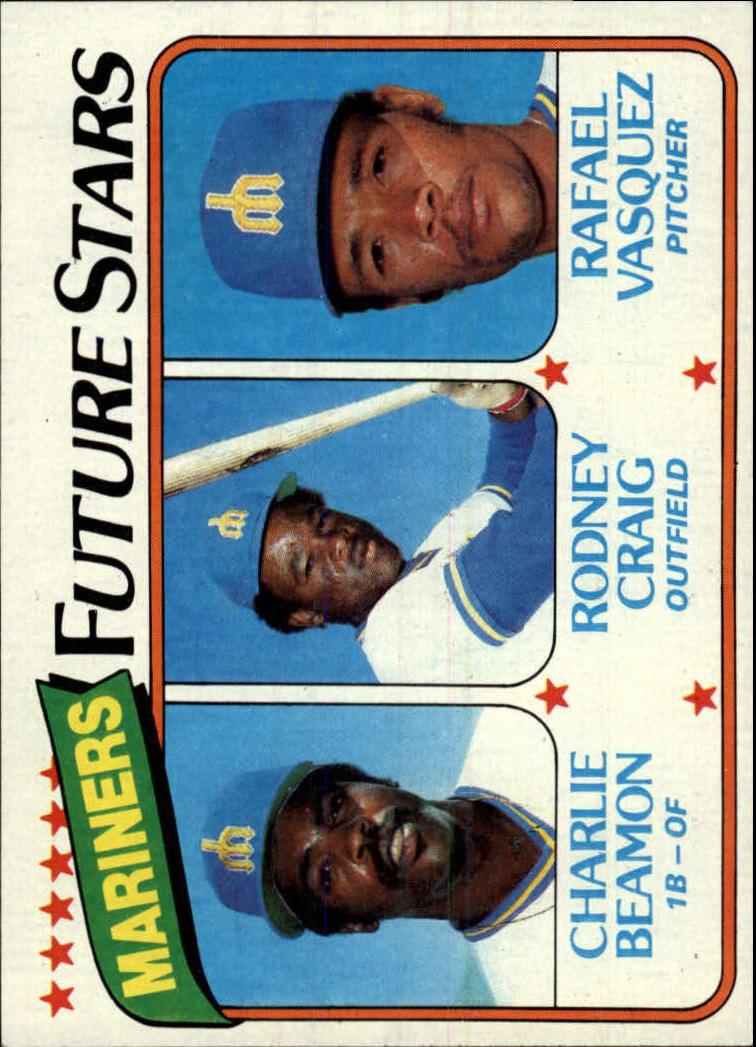 1980 Topps #672 Charlie Beamon RC/Rodney Craig RC/Rafael Vasquez RC