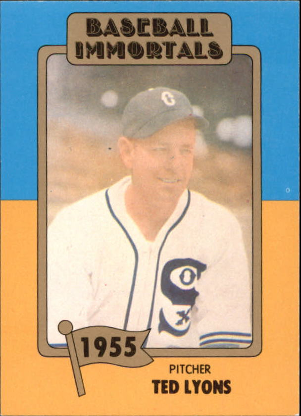 1980 87 Sspc Hof 77 Ted Lyons Baseball Immortals Nm Mt