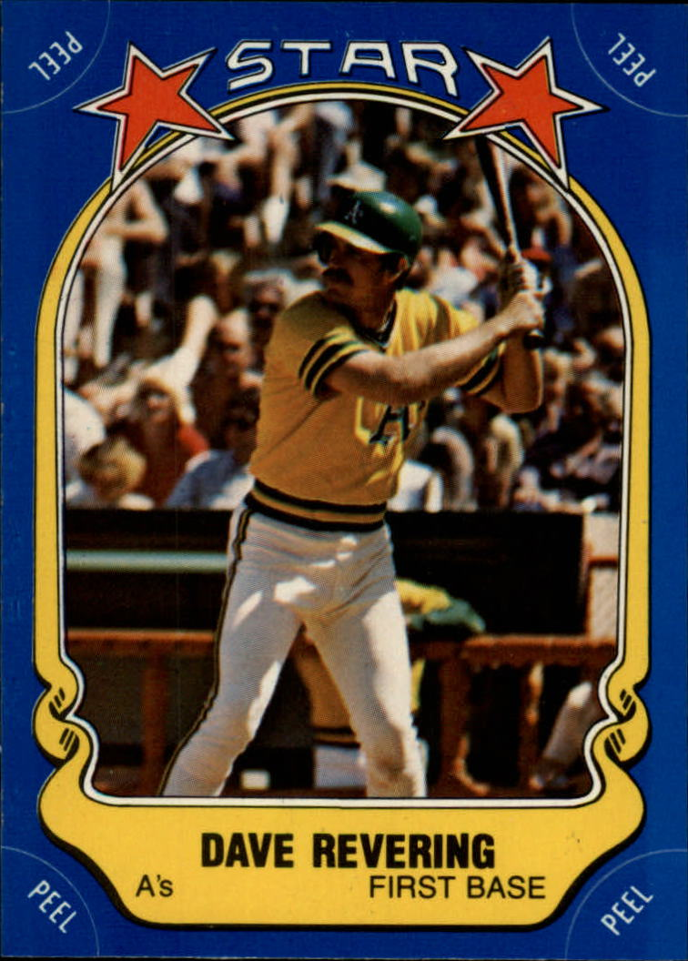 1981 Fleer Star Stickers #4 Dave Revering