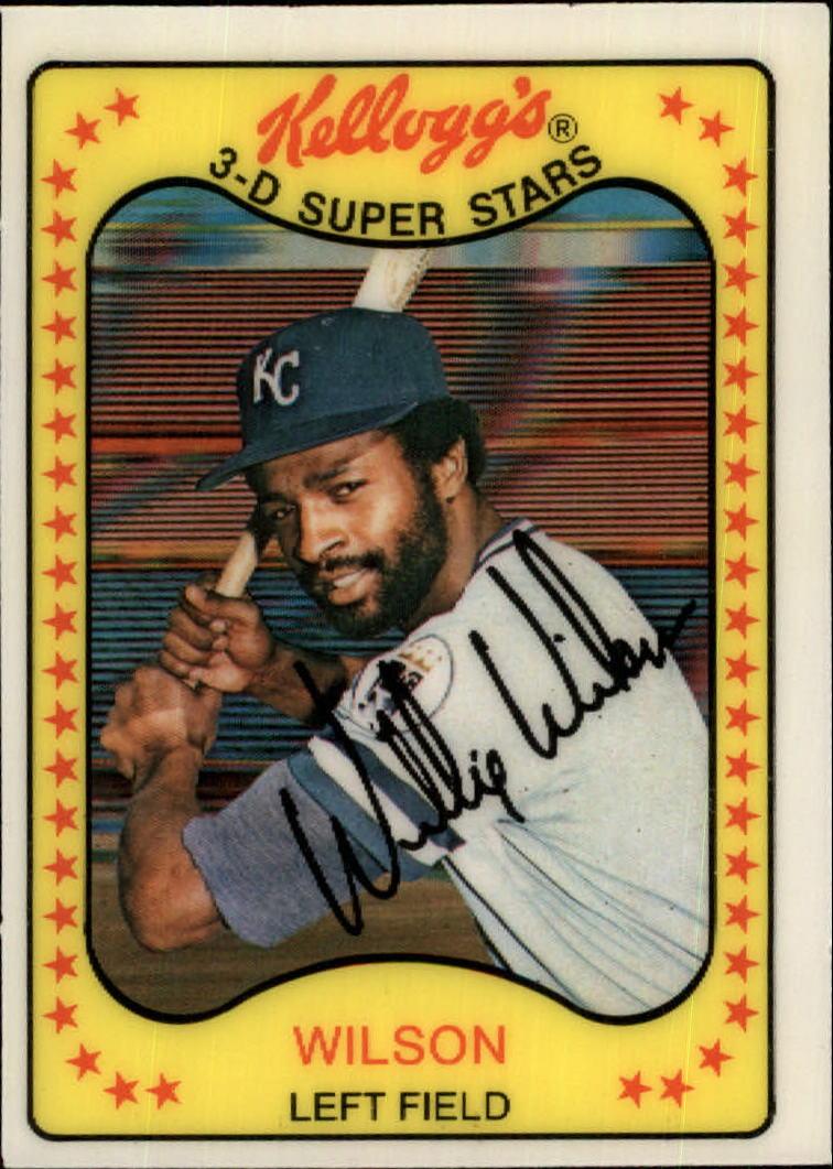 1981 Kellogg's #24 Willie Wilson