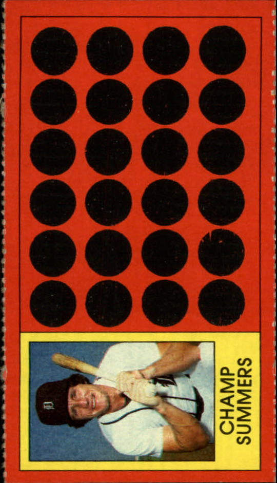 1981 Topps Scratchoffs #24 Champ Summers