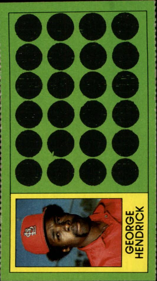 1981 Topps Scratchoffs #85 George Hendrick