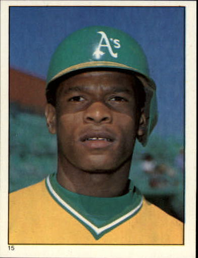 1981 Topps Stickers #15 Rickey Henderson