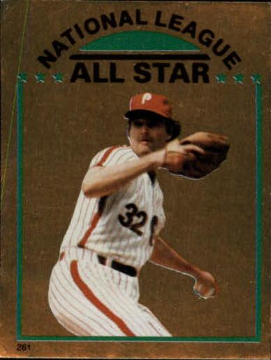 1981 Topps Stickers #261 Steve Carlton FOIL