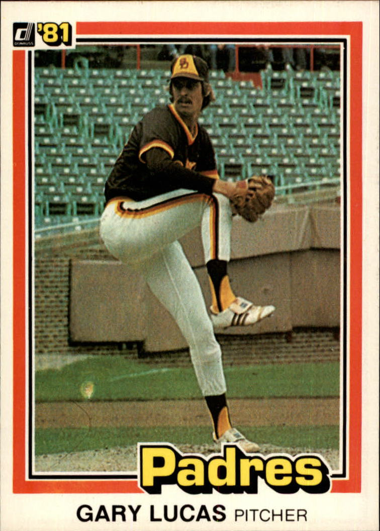 1981 Donruss #243 Gary Lucas RC