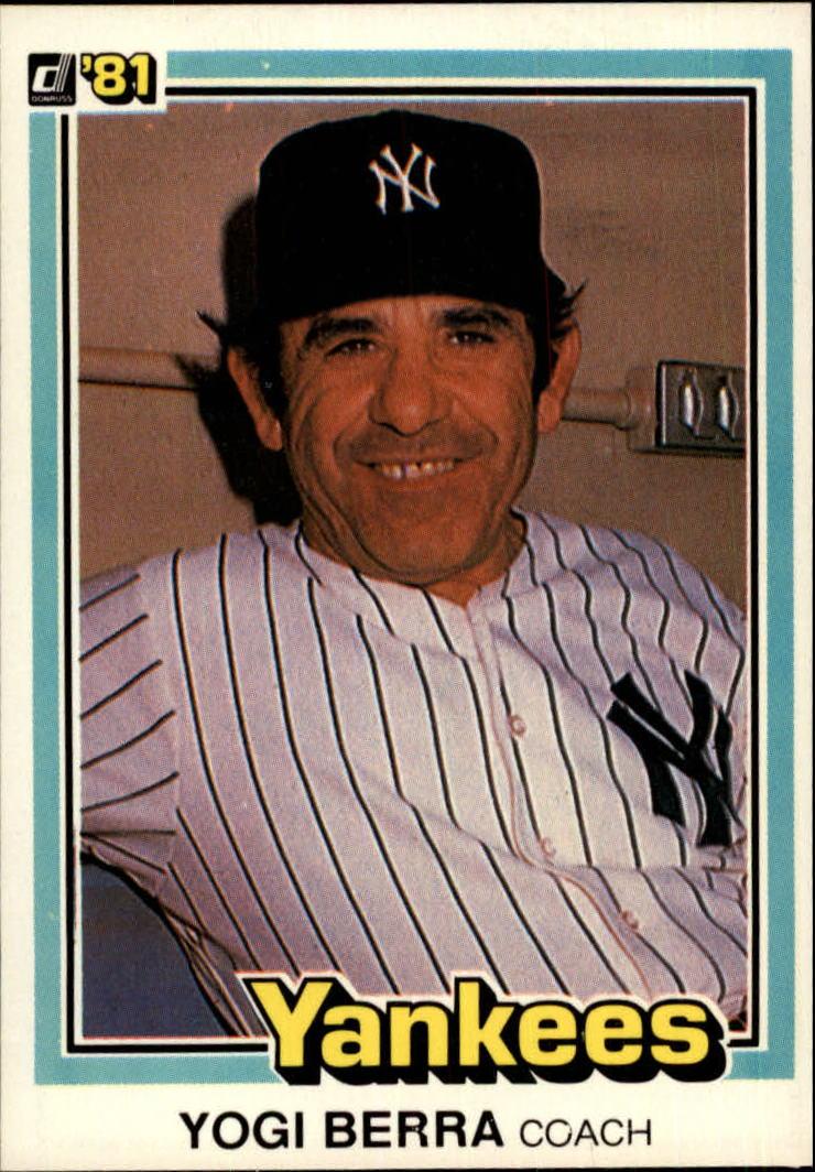 1981 Donruss #351 Yogi Berra CO