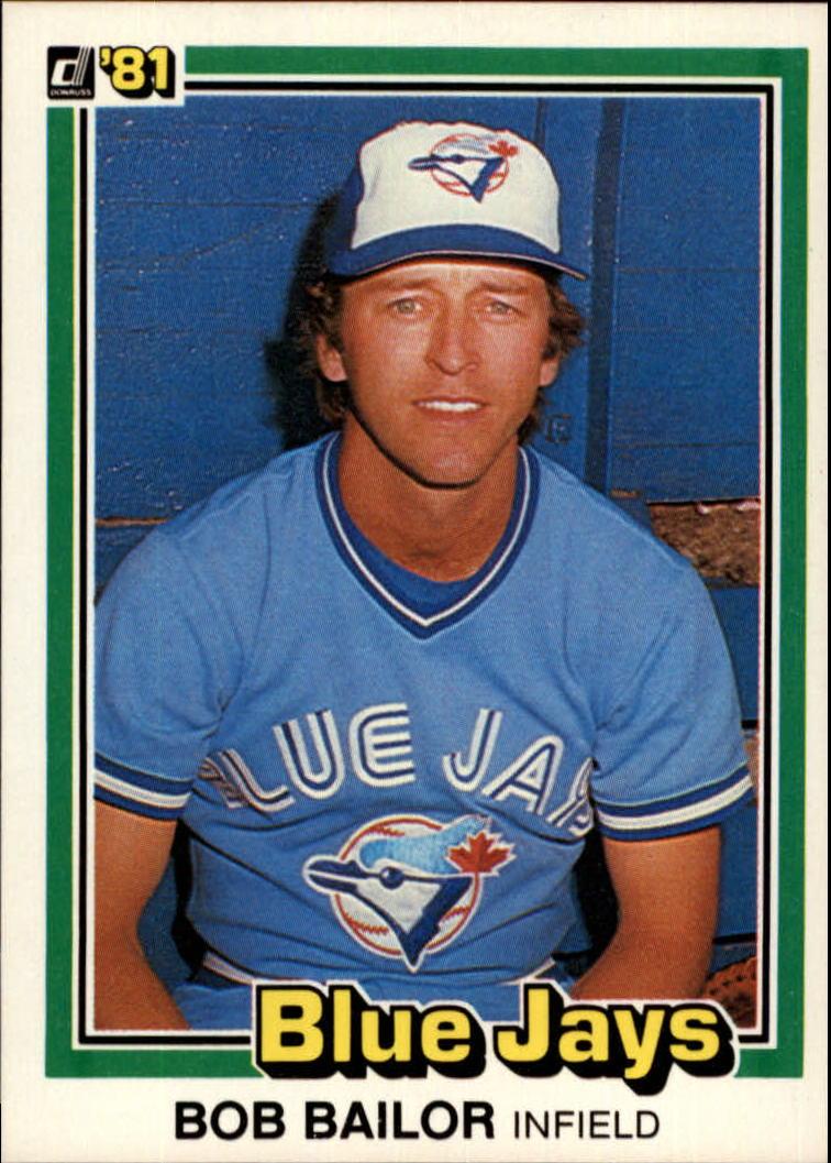 1981 Donruss #389 Bob Bailor