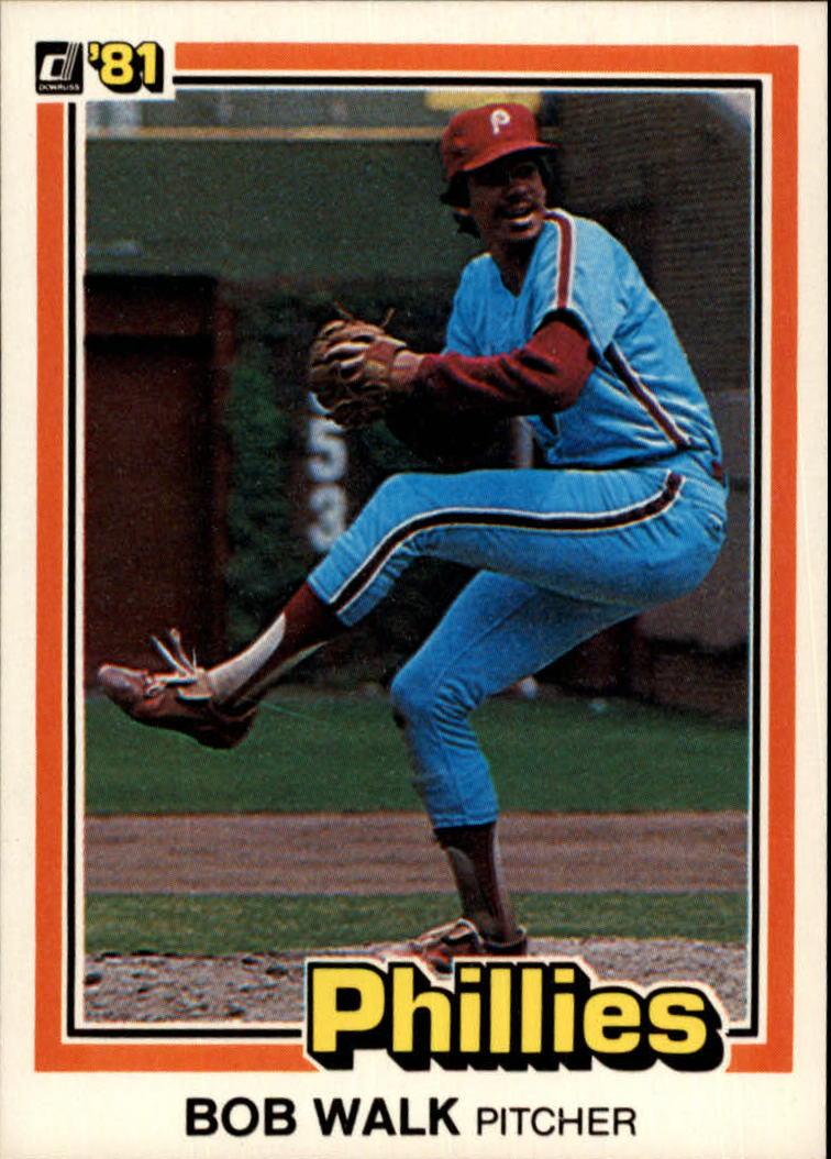 1981 Donruss #393 Bob Walk RC