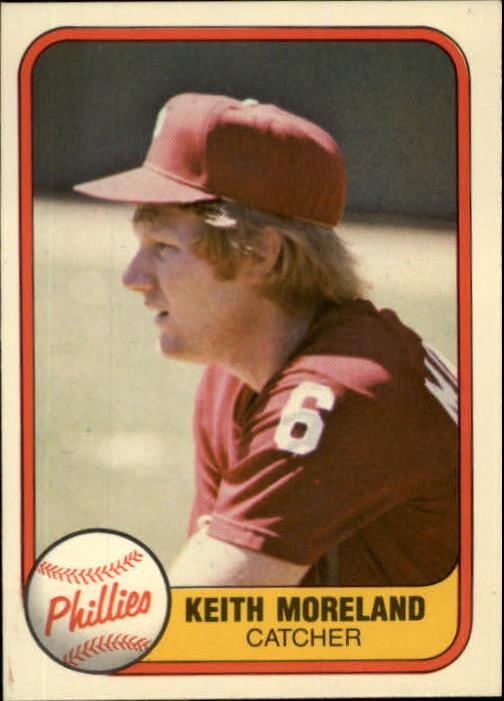1981 Fleer #13 Keith Moreland RC