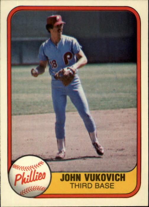1981 Fleer #22 John Vukovich