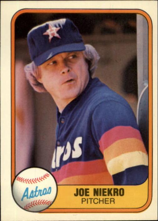 1981 Fleer #54 Joe Niekro