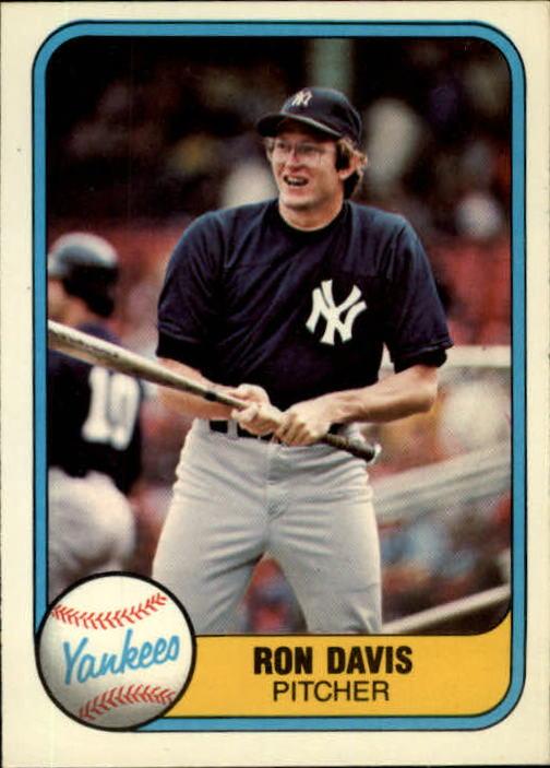 1981 Fleer #86 Ron Davis