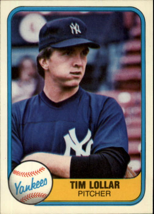 1981 Fleer #108 Tim Lollar RC