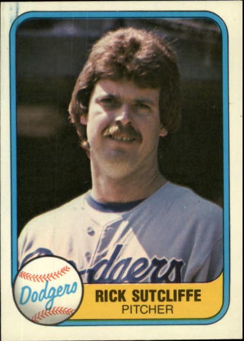 1981 Fleer #125 Rick Sutcliffe