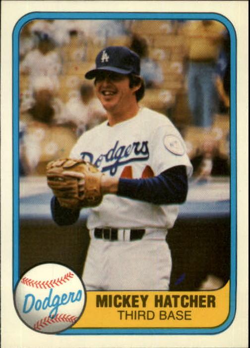 1981 Fleer #135 Mickey Hatcher