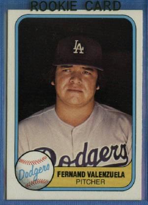 1981 Fleer #140 Fernando Valenzuela RC/UER Misspelled Fernand on card