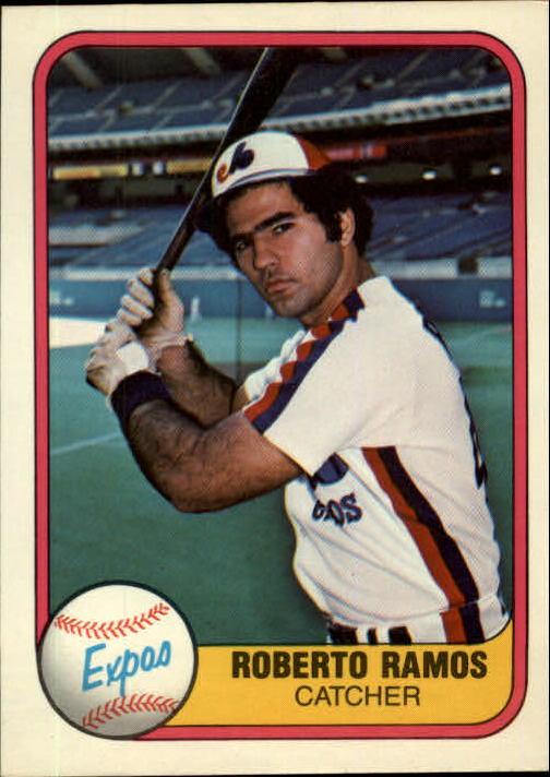 1981 Fleer #162 Roberto Ramos RC