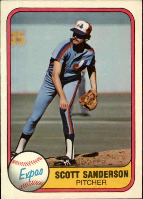 1981 Fleer #166 Scott Sanderson
