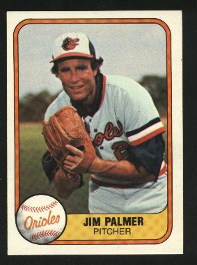 1981 Fleer #169 Jim Palmer