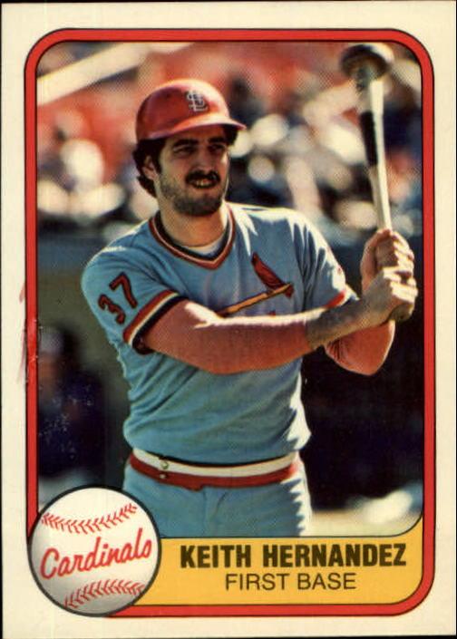 1981 Fleer #545 Keith Hernandez
