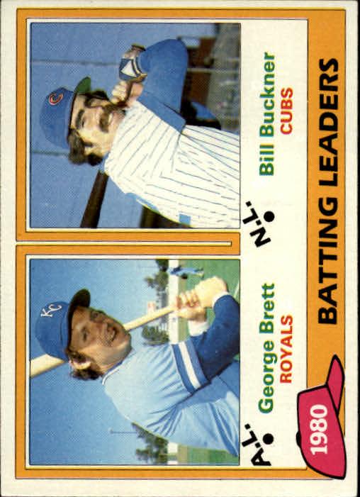 1981 Topps #1 George Brett/Bill Buckner LL