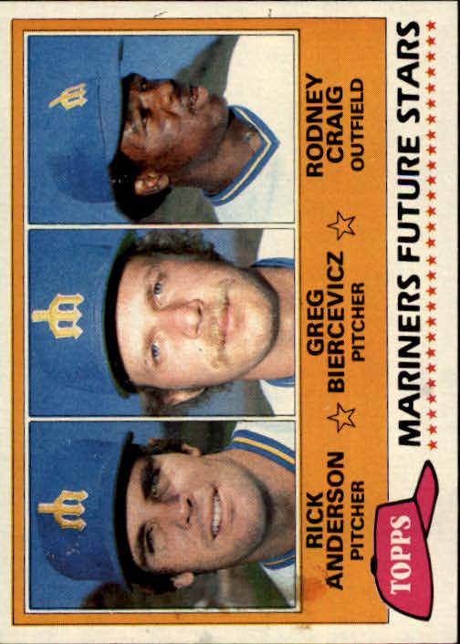 1981 Topps #282 Rick Anderson RC/Greg Biercevicz/Rodney Craig