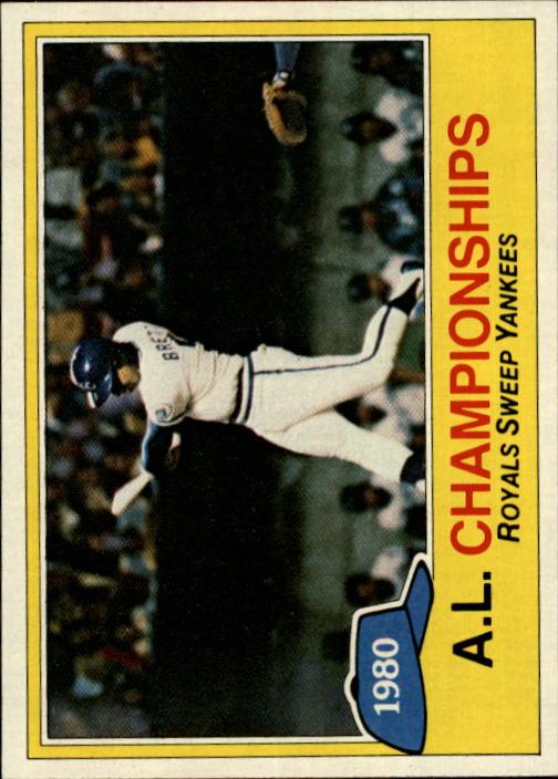 1981 Topps #401 George Brett ALCS