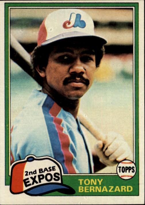 1981 Topps #413 Tony Bernazard