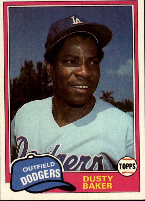 1981 Topps #495 Dusty Baker