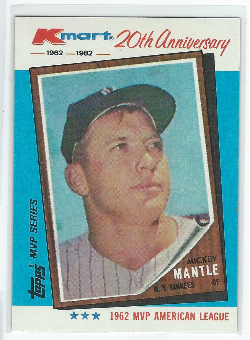 1982 K-Mart #1 Mickey Mantle: 62AL