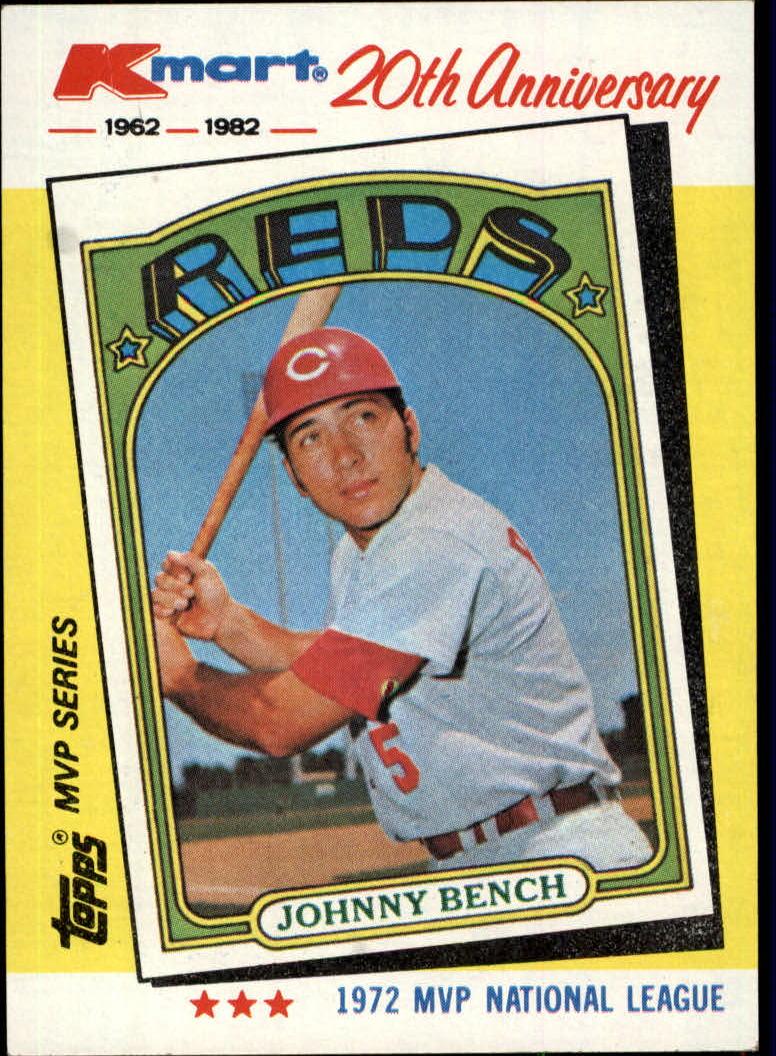 1982 K-Mart #22 Johnny Bench: 72NL