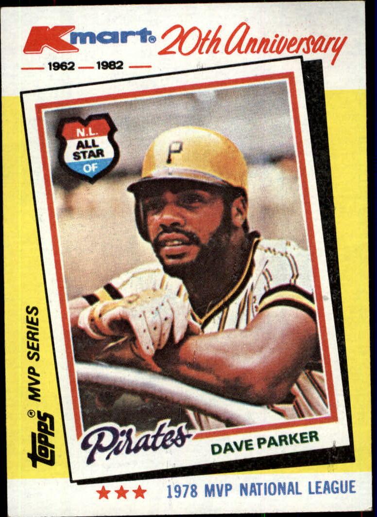 1982 K-Mart #34 Dave Parker: 78NL