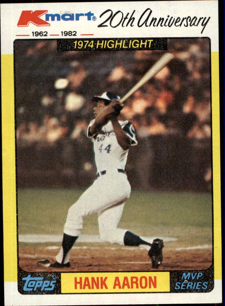 1982 K-Mart #43 Hank Aaron '74 HL/(Home run record)