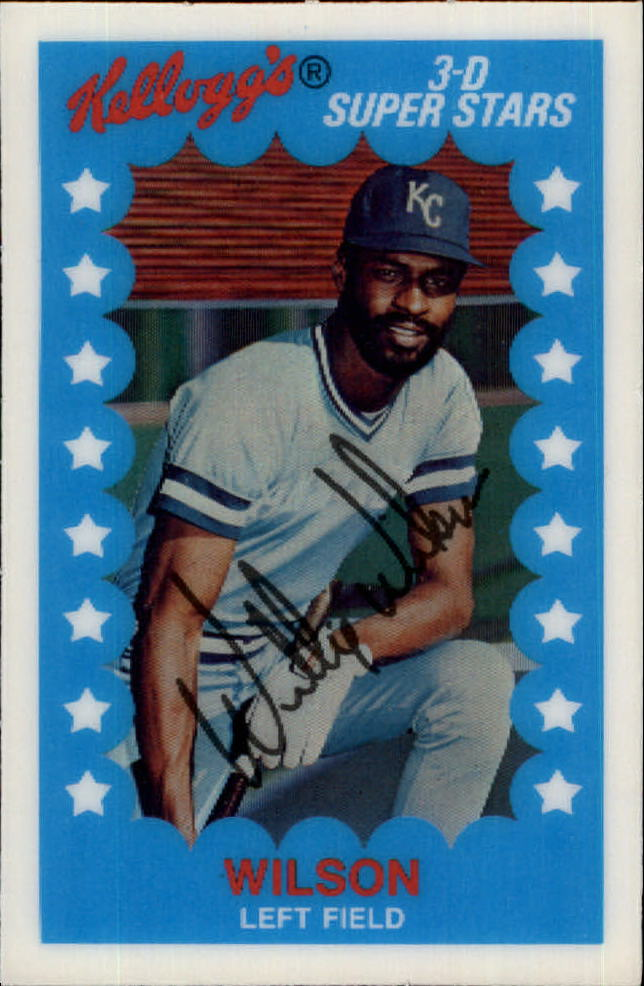 1982 Kellogg's #62 Willie Wilson