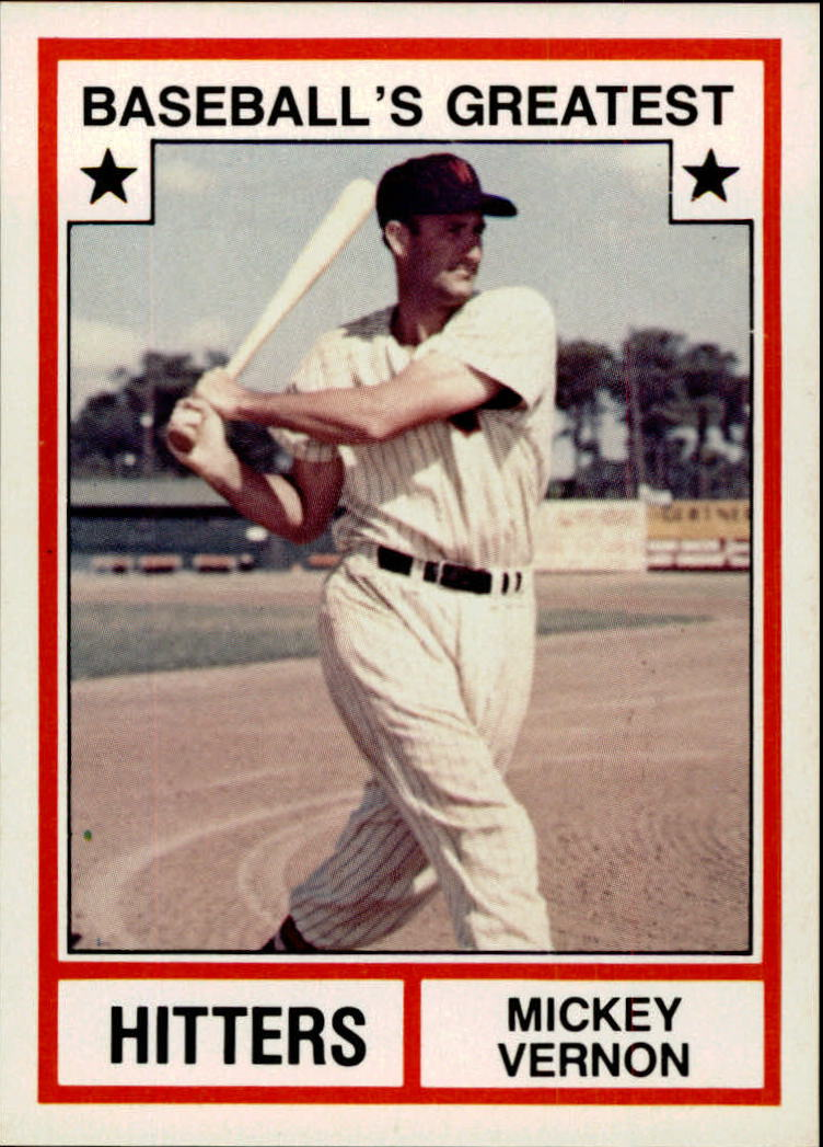 1982 TCMA Greatest Hitters #12 Mickey Vernon