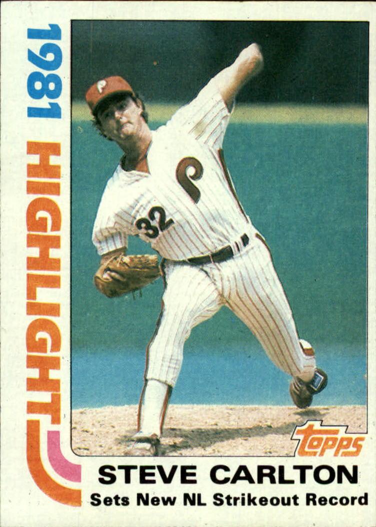 1982 Topps #1 Steve Carlton HL