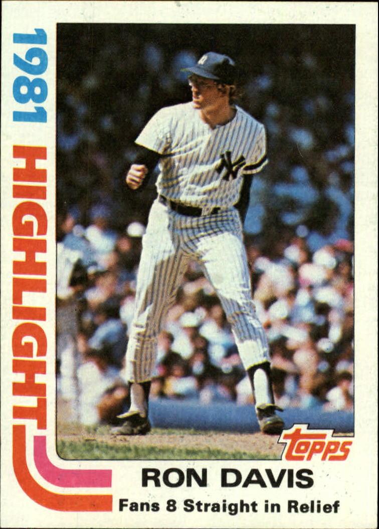 1982 Topps #2 Ron Davis HL