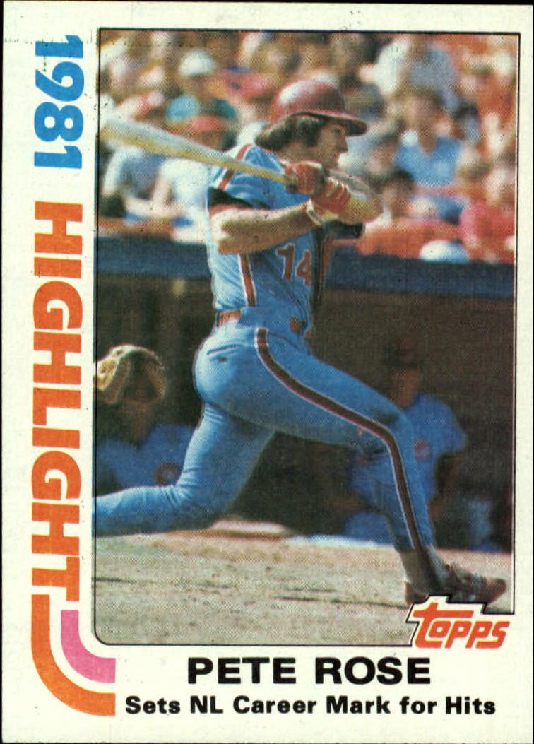 1982 Topps #4 Pete Rose HL