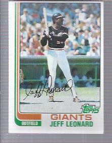1982 Topps #47 Jeff Leonard