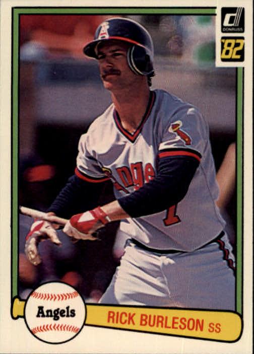 1982 Donruss #342 Rick Burleson