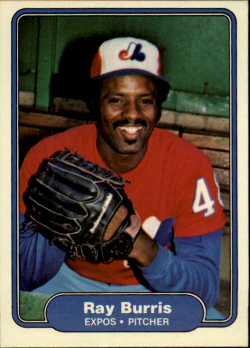 1982 Fleer #184 Ray Burris