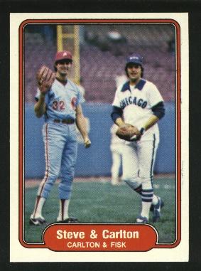 1982 Fleer #632 Steve Carlton/Carlton Fisk