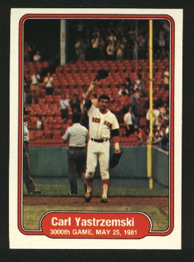1982 Fleer #633 Carl Yastrzemski/3000th Game