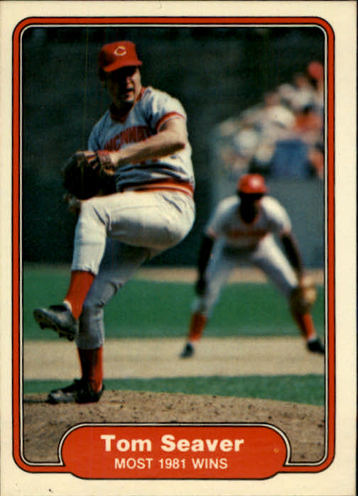 1982 Fleer #645 Tom Seaver/Most 1981 Wins