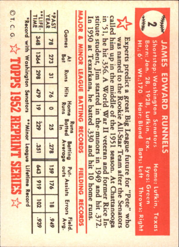 1983-Topps-1952-Reprint-BB-Card-039-s-1-250-You-Pick-Buy-10-cards-FREE-SHIP thumbnail 3
