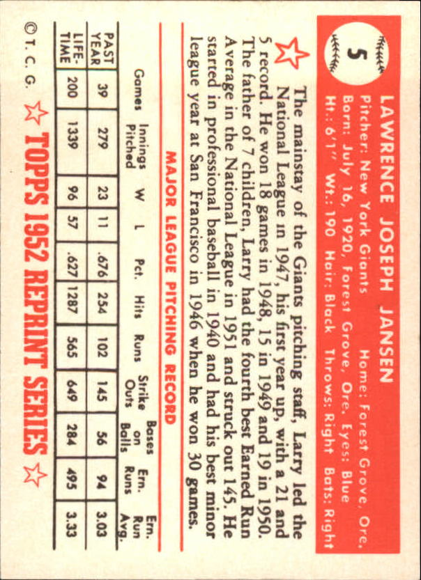 1983-Topps-1952-Reprint-BB-Card-039-s-1-250-You-Pick-Buy-10-cards-FREE-SHIP thumbnail 5