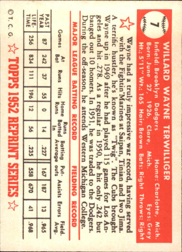 1983-Topps-1952-Reprint-BB-Card-039-s-1-250-You-Pick-Buy-10-cards-FREE-SHIP thumbnail 7