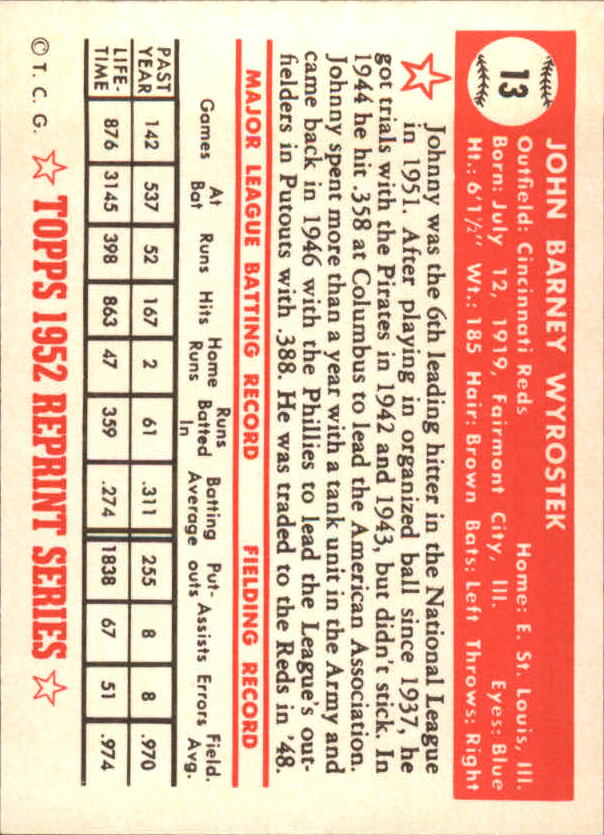 1983-Topps-1952-Reprint-BB-Card-039-s-1-250-You-Pick-Buy-10-cards-FREE-SHIP thumbnail 17