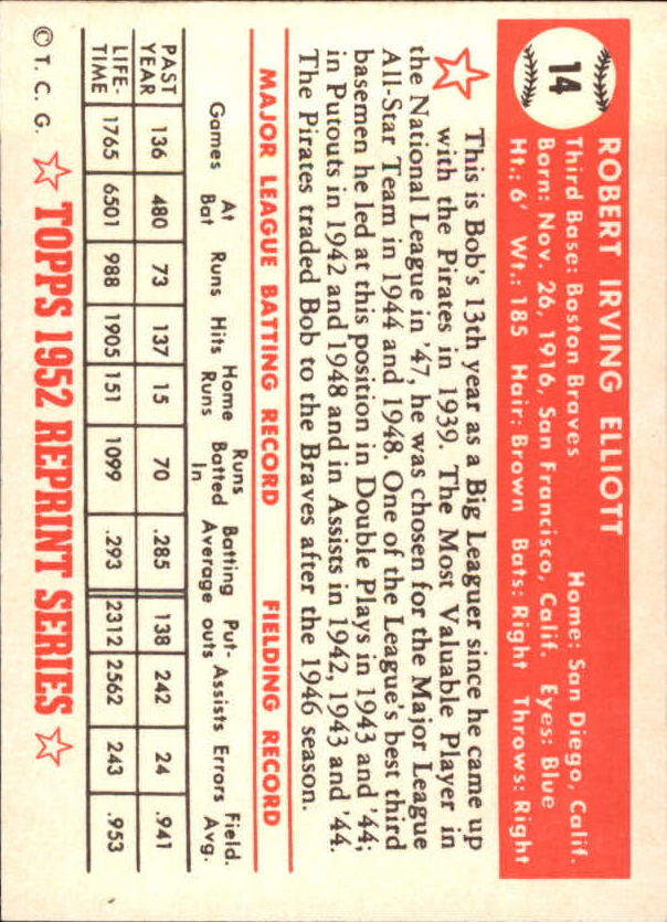 1983-Topps-1952-Reprint-BB-Card-039-s-1-250-You-Pick-Buy-10-cards-FREE-SHIP thumbnail 19