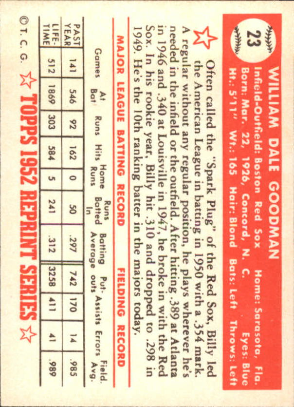 1983-Topps-1952-Reprint-BB-Card-039-s-1-250-You-Pick-Buy-10-cards-FREE-SHIP thumbnail 29